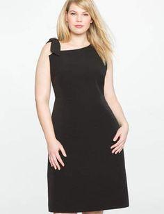 645736e91718 ELOQUII Tie Strap Dress with Side Slit Μεγέθη Για Εύσωμες