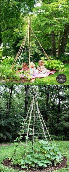 21 Easy DIY Garden Trellis Ideas & Vertical Growing Structures - A Piece Of Rainbow