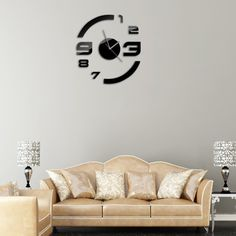 Fashion Large DIY Wall Clock Home Decor Mirror Stickers Frameless Hours (Intl) tonghopdeal posted a photo: via Tổng hợp full product Wall Clock Sticker, Mirror Wall Clock, Wall Clock Wooden, Diy Mirror, Home Decor Mirrors, Wall Art Decor, Mirror Stickers, Diy Clock, All Modern