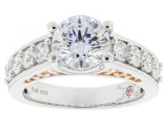 Michael O' Connor For Bella Luce® Diamond Simulant Rhodium Over Silv