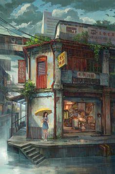 """art by FeiGiap:""""RAIN"""""""