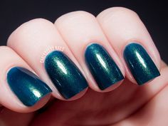 Try a pretty teal shade for your next summer manicure