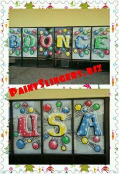 Bounce Usa Window Painting