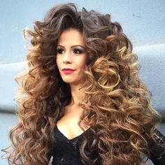 Big Curls For Long Hair, Long Brown Hair, Very Long Hair, Long Curly Hair, Big Hair, Curly Hair Styles, Beautiful Long Hair, Gorgeous Hair, Butterscotch Hair Color