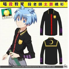 High-Q Unisex Assassination Classroom shirt T-Shirts punk rock kuso Baka to Tesuto to Shokanju FFF t-shirt shirt tshirt coat