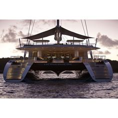 The world's largest catamaran, sail or power, Hemisphere is an exceptional yacht for world exploration. This sailing catamaran offers an enormous am. Luxury Sailing Yachts, Yacht Interior, Yacht Boat, Yacht Design, Sail Away, Catamaran, Beautiful World, Cruise, Auction