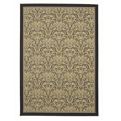 Seagrove All-Weather Indoor/Outdoor Rug. 8x10 is $129  Looks awesome in gray, too, probably better.
