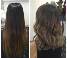 This medium length haircut has long layering with choppy, textured tips Super-flattering beige, honey, caramel and ice-blue medium hairstyles for women - Medium Style Haircuts Medium Long Hair, Medium Hair Cuts, Medium Hair Styles, Short Hair Styles, Brown Hair Balayage, Hair Color Balayage, Hair Highlights, Bayalage, Hair Color And Cut