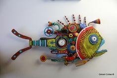 gerard collas, assemblage art brut singular, fish