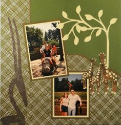 Zoo scrapbook page with a Branch from Cricut's Storybook