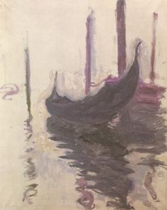 Claude MONET - Gondola in Venice