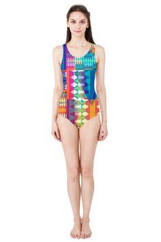 Triangle Quilt_MirandaMol Women's One Piece Swimsuit   #pinkcess #mirandamol #fashion #cool #beachwear #swimsuit #beach #summer #pinkcess #pinkcessfashion #pnkx