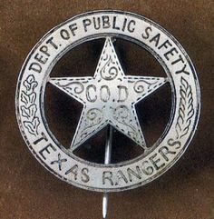 The search for a r e a l Texas Ranger badge is the collecting version of the Agony and the Ecstasy. and mostly agony . Texas Rangers Law Enforcement, Law Enforcement Badges, Tx Rangers, Texas Texans, Mein Hobby, Only In Texas, Emergency Medical Services, Police Patches, Texas History