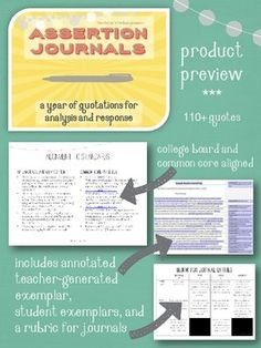 Challenge your students to blend close reading and argumentation skills as they broaden their world views! Assertion journals--written responses to pithy quotations--are an integral part of my AP classroom. Through them, students learn to think critically, analyze, and argue.