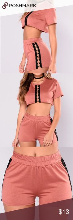 Fashion Nova Only You Grommet shorts Fashion Nova Only You Grommet shorts. Mauve color, shorts are a small, I have the matching top listed as well. NEW WITH TAGS Fashion Nova Shorts
