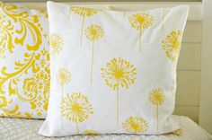 Dandelion Pillow Cover 18 by larksongcreations on Etsy, $19.00
