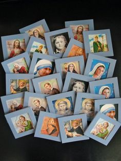 Gift Idea #3 - Saints Memory Game   This idea comes from my creative sister-in-law, the super-fun Aunt Kelly. She made us a set using our fa...
