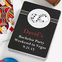Roll The Dice Personalized Playing Cards - Wedding Gifts - Wedding Gifts