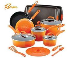 Enter for the chance to win a 16-pc Rachael Ray Hard Enamel Nonstick Cookware set. We all know Rachael Ray doesn't screw around when it comes to cooking, her set even includes bakeware and kitchen tools! From saucepans to skillets to sauté pans and even baking pots, this giveaway includes everything you could ever need for cooking. …