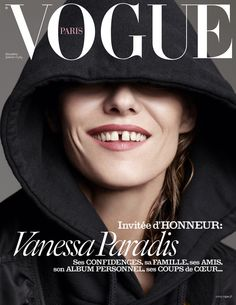 Vanessa Paradis for the cover of Vogue Paris,  December/January Issue, 2015 - 2016.