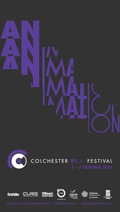 Colchester Film Festival 2012 by Sam Knott, via Behance