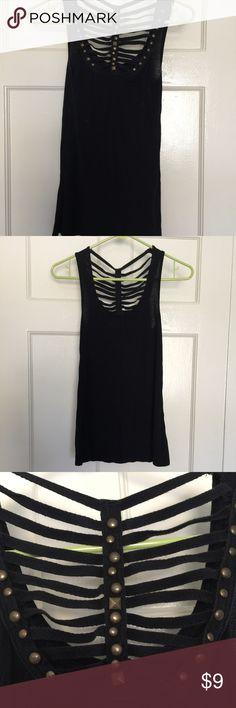 Black studded tank Black studded tank from urban outfitters- great condition Urban Outfitters Tops Tank Tops