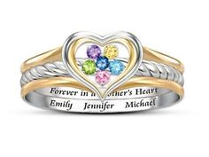 Forever in a Mother's Heart Ring