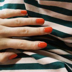 Bright orange nail polish – Orange nails – Many women prefer to go to the … Light Nail Polish, Orange Nail Polish, Polish Nails, Pretty Nails For Summer, Summer Nails, Bright Orange Nails, Ten Nails, Makeup Salon, Makeup Studio