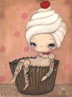 adorable. cupcake girl. I want this!
