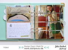 #Babywoche bei danipeuss.de: das gefüllte Schwangerschafts-Tagebuch von Julia Reichert mit dem Materialkit von #danipeuss #video #projectlife #tagebuch #dokumentation #memorykeeping #minialbum #schwangerschaft #baby #scrapbooking