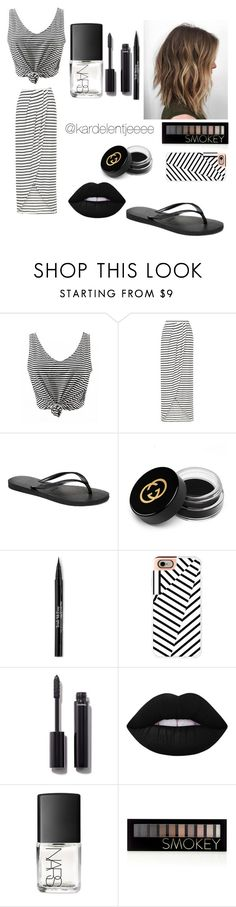 """#50"" by kardelentjeeee ❤ liked on Polyvore featuring New Look, Havaianas, Gucci, Trish McEvoy, Casetify, Chanel, Lime Crime, NARS Cosmetics and Forever 21"