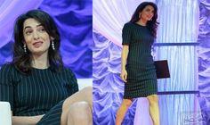 أمل كلوني تجد طريقة جديدة لتوضيح الاختلاف…: ارتدت المحامية أمل كلوني، فستانًا أنيقًا مخططًا ضيقًا، أثناء مشاركتها في مؤتمر تكساس للنساء،…