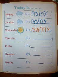 Student observation, exploring nature, writing, and recognizing changes in weather are all DAP concepts.  Students can use the journals to imagine they are the meteorologist on the local news during imaginative play.