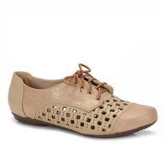 Sapato Oxford Feminino Brasileñas 8045180 - Ouro