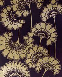 Japanese Floral Aubergine från Signature Prints