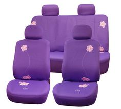 Shop for FH Group Purple Flower Embroidery Airbag Compatible Car Seat Covers. Get free delivery On EVERYTHING* Overstock - Your Online Interior Accessories Store! Get in rewards with Club O! Jeep Wrangler Seat Covers, Jeep Seats, Car Seats, Purple Seat Covers, Custom Seat Covers, Car Accessories For Girls, All Things Purple, Purple Stuff, Cloth Flowers