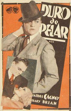"""Programa de mano de cine de la película """"Duro de pelar"""", estrenada en España en el año 1933"""