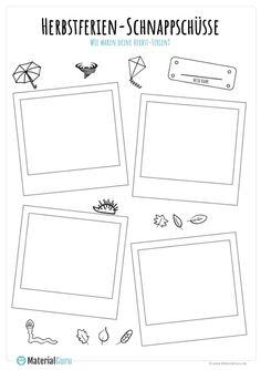 Herbstferien Polaroids - My best design list Alphabet Worksheets, Kindergarten Worksheets, Worksheets For Kids, Fall Vacations, All Inclusive Vacations, Portfolio Book, Portfolio Design, Portfolio Kindergarten, Paris Hidden Gems