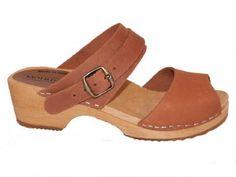 Wooden clog sandal PETRA, moheda of sweden