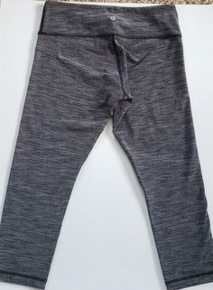 1deca1f83bba2 Lululemon Athletica Winter Running Gray Crop Legging Yoga Thicker Material   Lululemon  Crop  lululemon