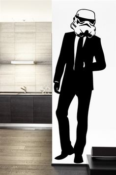 "NEW 2015 collection includes ""Suit Trooper"" Wall Decal by WALLTAT.com."