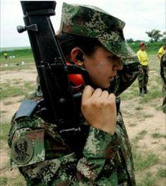 Female Soldier, Soldiers, Women, Colombia, Women's