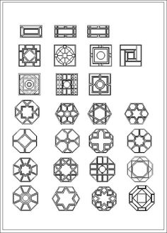 Chinese Decoration Elements Chinese window,Window lattice Autocad Drawings,Chinese Decoration elements,chinese sculpture,Cad Blocks and Cad Details The .DWG files are compatible back to AutoCAD Ancient Chinese Architecture, Asian Architecture, Architecture Design, Autocad, Chinese Door, Chinese Art, Chinese Culture, Chinese Design, Chinese Style