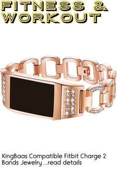 KingBaas Compatible Fitbit Charge 2 Bands Jewelry Strap Metal Frame Wristband Bracelet Accessory Band Compatible Fitbit Charge 2 Fitness Tracker, Silver,Rose Gold,Black (No Tracker) ... (This is an affiliate link) Charge 2 Bands, Best Fitness Tracker, Fitbit Charge, Bangles, Bracelets, Black Gold, Rose Gold, Link, Metal
