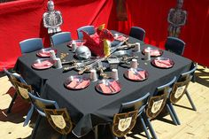 Knight Party Table Decoration Ideas