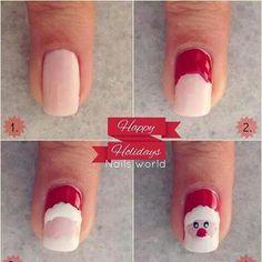 #uñas #navidad #nails #SantaClaus