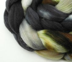 Queen's Tea Spinning Fiber  Hand Dyed Roving  by DyeabolicalYarns, $15.00