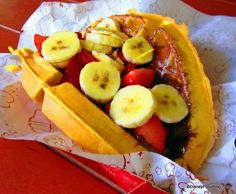 Nutella and Fresh Fruit Waffle Sandwich at Disney World