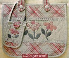 Kołdra pikowana torebka - Japoński patchwork