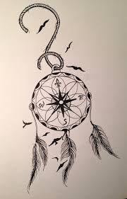 compass dreamcatcher tattoo - Google Search